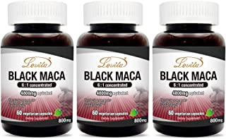 Lovita High Potency Black Maca Root Extract 4800mg, Supports Reproductive Health, Natural Energizer, 60 Vegetarian Capsule...