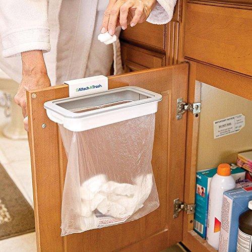 da Appendere Garbage Holder per Armadio Cucina Trash Spazzatura Rack di stoccaggio KOBWA Attach-a-Trash Appeso Supporto Portasacco con Coperchio