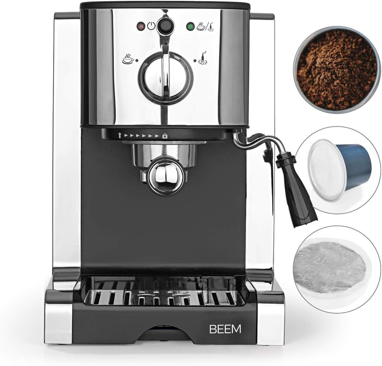 BEEM Máquina de café espresso (20 bar, compatible con cápsulas de café).