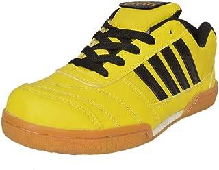 Livia $ Roxie $ Boy's Badminton Sports Shoe (Light Yellow & Black) (3 India/UK)