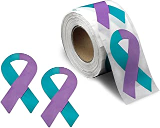 Suicide Awareness Ribbon Stickers - 1 Roll - 250 Stickers