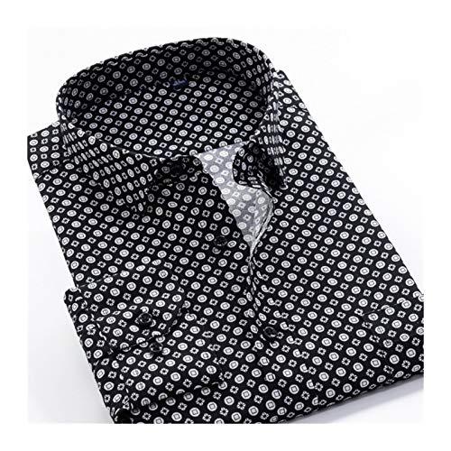 AOSUAI Camisa para hombre 6XL 7XL 8XL 9XL 10XL Tamaño grande estampado de flores para hombre moda casual manga larga camisa primavera 24 colores (color: 18, talla: 3XL.)