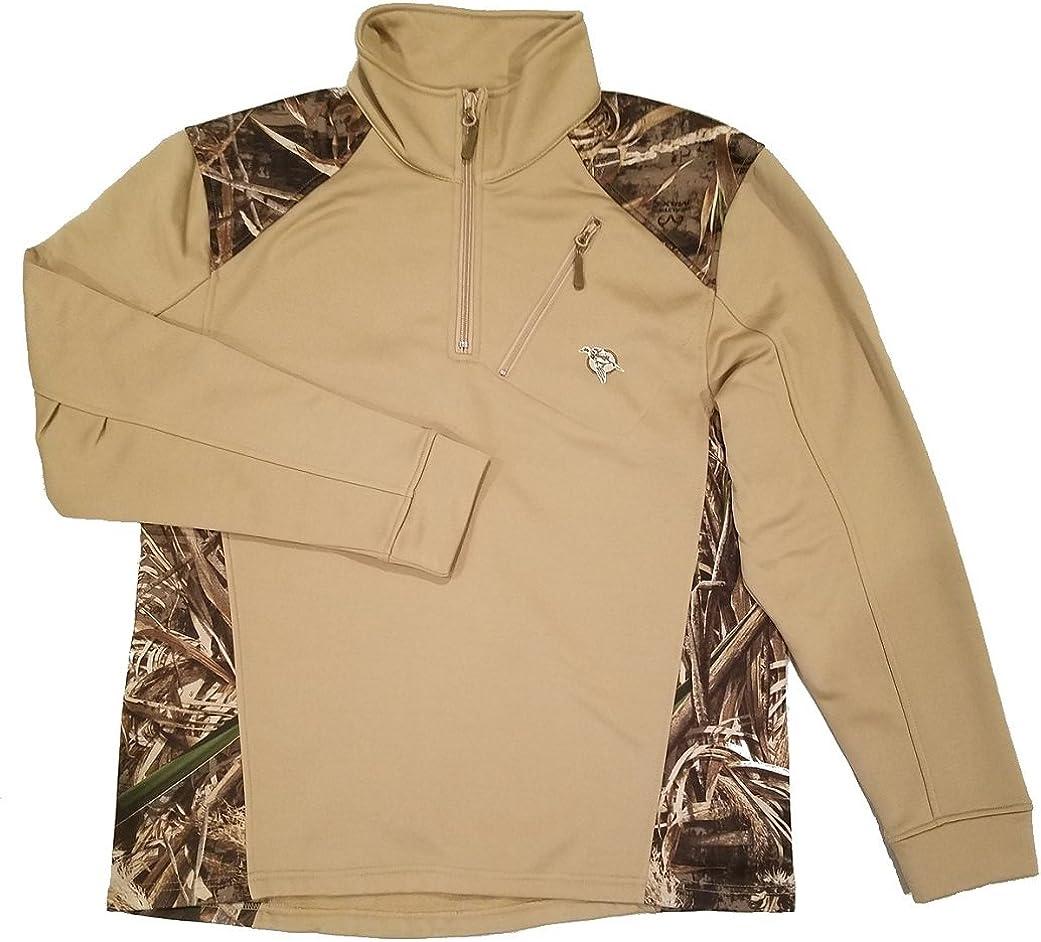 Heybo Gaffer Quarter Zip Jacket Khaki/Realtree Max-5