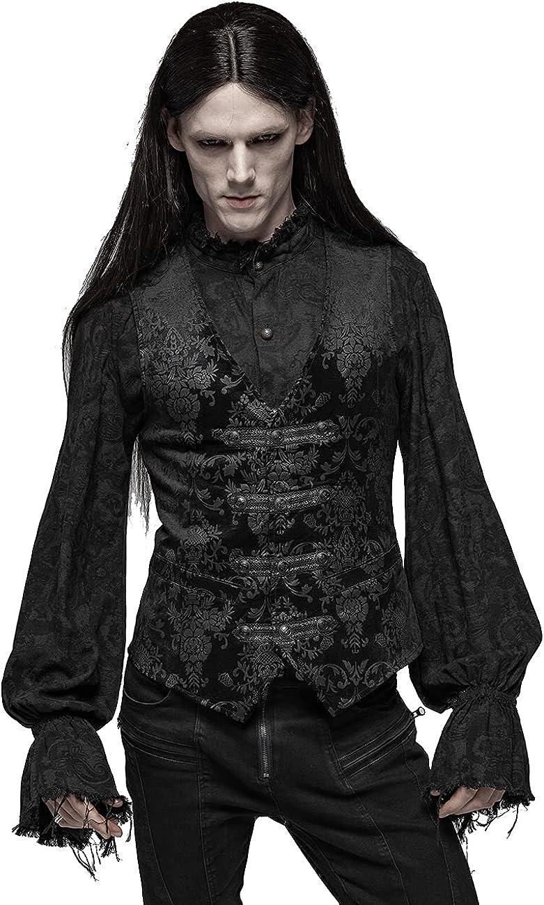 Punk Rave Men's Vest Gothic Palace Printed Vest Steampunk Gentleman Sleeveless Waistcoat
