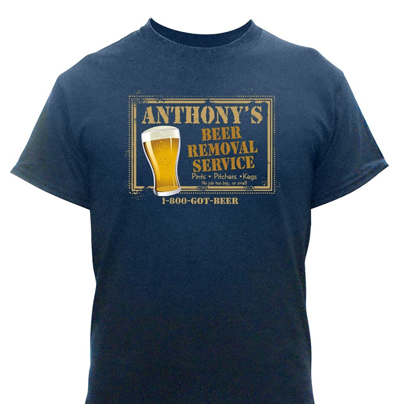 GiftsForYouNow 100 Percent Cotton Personalized Beer Removal T-Shirt
