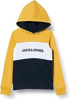 Jack & Jones Junior Jjelogo Blocking Sweat Hood Noos Jr Sudadera con Capucha para Niños