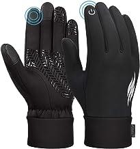 Unisex winter handschoenen touch screen winddicht thermische anti-slip handschoenen zwart en grijs