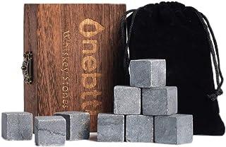 Whisky Steine Aus Natürlichem Marmor Zum Kühlen Von Whiskey Geschenke Für Whiskyliebhaber - Wiederverwendbare Eiswürfel - Weihnachten Whiskyzubehör - Kühlwürfel - Erntedankfest Bar Accessoires