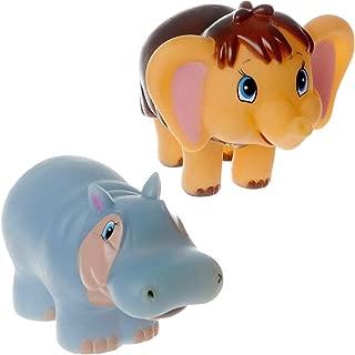 Baby Mammoth and Hippo Bath Toys for Bathroom Soviet Russian Cartoon Characters
