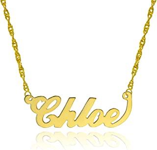 10k Yellow Gold Personalized Name Necklace - Style 3 - Custom Made Any Name