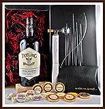 Geschenk Teeling Rum Cask Finish irischer Whiskey + Flaschenportionierer + 10 Edel Schokoladen von...