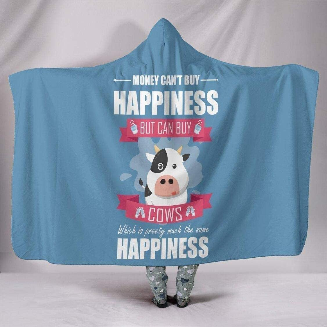 Personalized Happiness Spring new work one after another Cow Blanket Flannel Max 82% OFF Hoodie Wea -