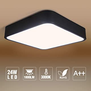 LED Flush Mount Ceiling Light,3000K Square LED Ceiling Light Fixture for Kitchen,Hallway,Bathroom,Stairwell 11.8 inch,24W,1800lm