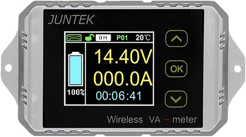 Wireless Voltmeter Ammeter Voltage Current Gauge DC 0~100V -200A~ +200A Watt Power Capacity Color LCD Meter