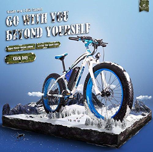 Lieferung vor Weihnachten Rich BIT TP022 1000W 48V * 17Ah Lithium-Ionen-Akku 26 \'\' * 4\'\'inch Fat Reifen LCD Display 7 Levels Pedelec Geschwindigkeit Alluminum Rahmen Unisex Mans Erwachsene Snow Bike