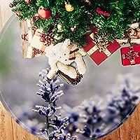 ツリースカート クリスマスツリースカート 蝶 ラベンダー きれい ホリデーデコレーション メリイクリスマス飾り 下敷物 可愛い 雰囲気 クリスマスパーティー 直径77cm