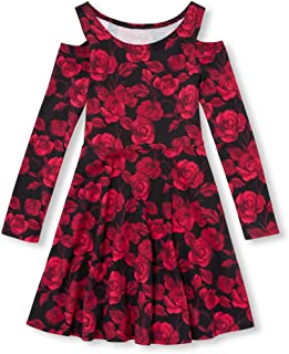 The Children's Place Big Girls' Long Sleeve Pleated Dress