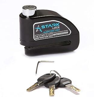 Trava de Disco com Alarme Anti Furto Segurança Proteção Moto - Preto
