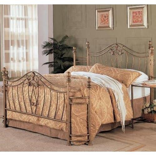 Wrought Iron Bed Amazoncom