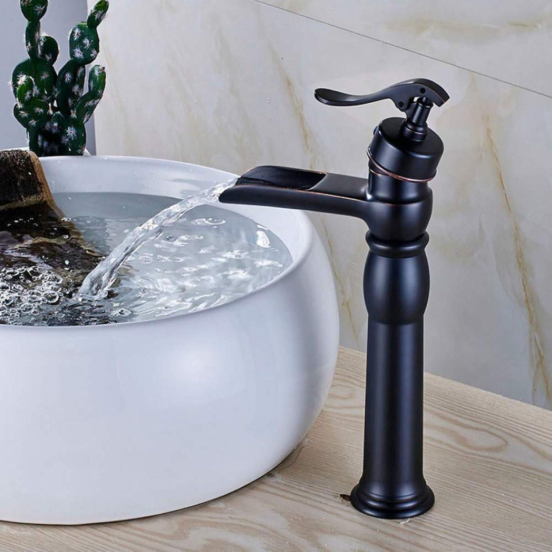 Ayhuir Wasserfall Becken Wasserhahn Deck Montiert Pumpe Form Kaltwasserhahn Einhebel Messing Mischbatterie