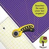 OfficeTree Set Tappetino da Taglio - 90x60 cm (A1) Rosa + taglierina Circolare + Righello da 60x16 cm - qualità Premium - per lavori di Taglio Professionali
