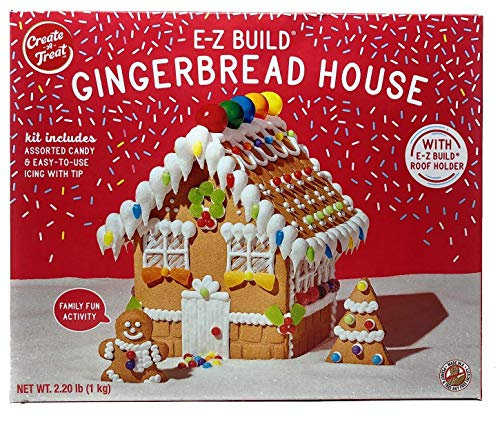 Create-a-Treat Large E-Z Build Gingerbread House Kit, 2.2 lbs. Pack of 10