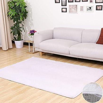 Amazon.fr : tapis blanc salon - Soie / Moquettes, tapis et sous ...