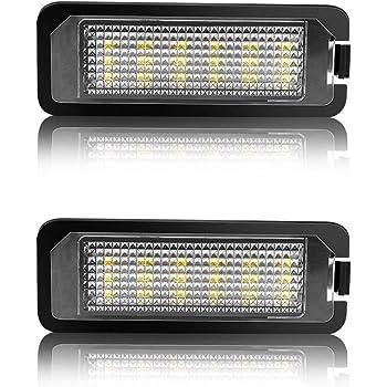 LITTOU 2 X Luz de Matricula 18 LED SMD LED traseras CanBus error ...