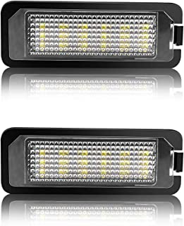 Safego Luz de matrícula LED para Coche Lámpara Número Placa Luces 2835 SMD con Canbus No error 6000K Xenón Blanco para Volks-wagen GOLF 5/6/7 Lupo Passat Scirocco Polo etc, 2 Piezas, 1 año de Garantía