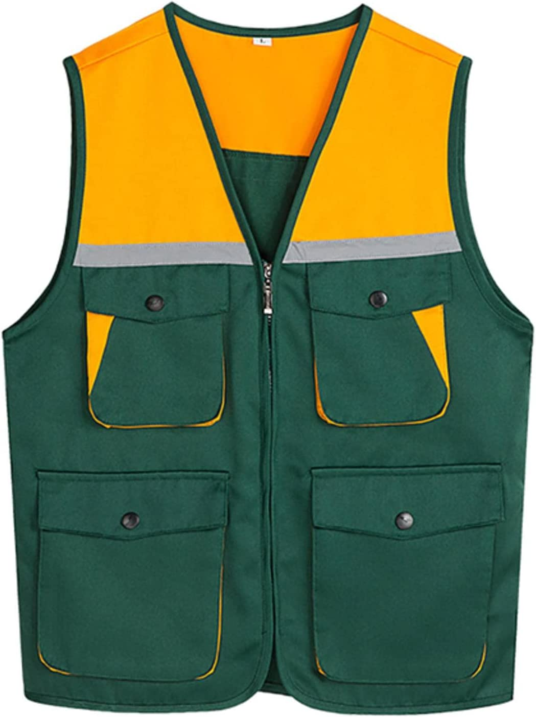 NC Outdoor Reflective Vest Men's Cycling Breathable Color Matching Multi-Pocket Reflective Cycling Vest PRO Safety G9002