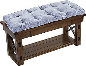 Almofada para banco de pátio para ambientes internos/externos Big Hippo, almofadas de assento macias e espessas com laços...
