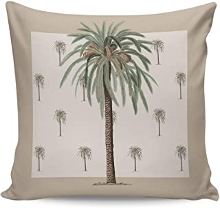 Infinidesign Summer Tropical Plant Decorative Throw Pillow Covers Cases 16x16inch, Canvas Decorative Pillow Shams for Livi...