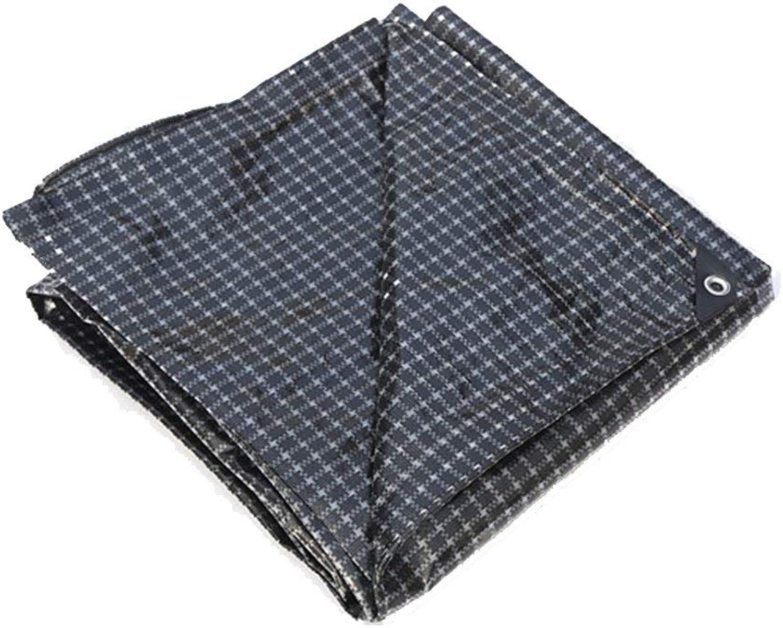 Xuanlindian Rainproof Cloth Waterproof Tarpaulin Waterproof Sunscreen Tent Cloth Truck Marine Windproof dustproof Lightweight Polyester and Grid