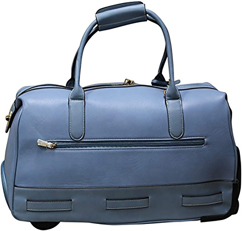 Simply Noelle Max 64% OFF Cobblestone Rolling Duffel DENIM LIGHT - Bag Super sale