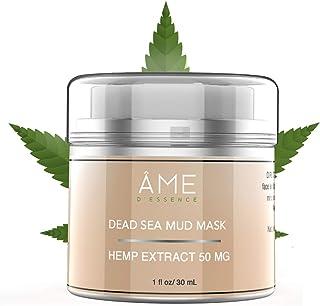 (50mg) Organic Face Mask Dead Sea Mud & Pure Hemp Oil w/Vulcanus Kaolin Natural Moisturizing Mineral Cleanser Treatment Re...