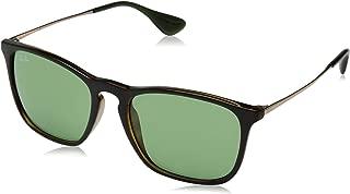 RB4187 Chris Square Sunglasses, Tortoise/Green, 54 mm