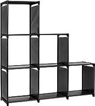 Kubusplank KARE met 9 vakken, snel en flexibel op te bouwen, ook als traprek, zwart als boekenrek, documentenkast, scheidi...