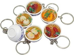6pcs Mini Lifelike Simulation Flower Bowl Noodle PVC Delicious Food Cell Phone Charm Bag Strap Pendant Kid Toy
