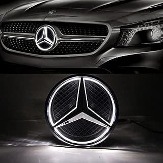 Kimoo MB-LED01 Illuminated LED Light Front Grille Star Emblem Badge for Mercedes Benz W205 C E R ML GL GLA CLA CLS Class 2013-2016