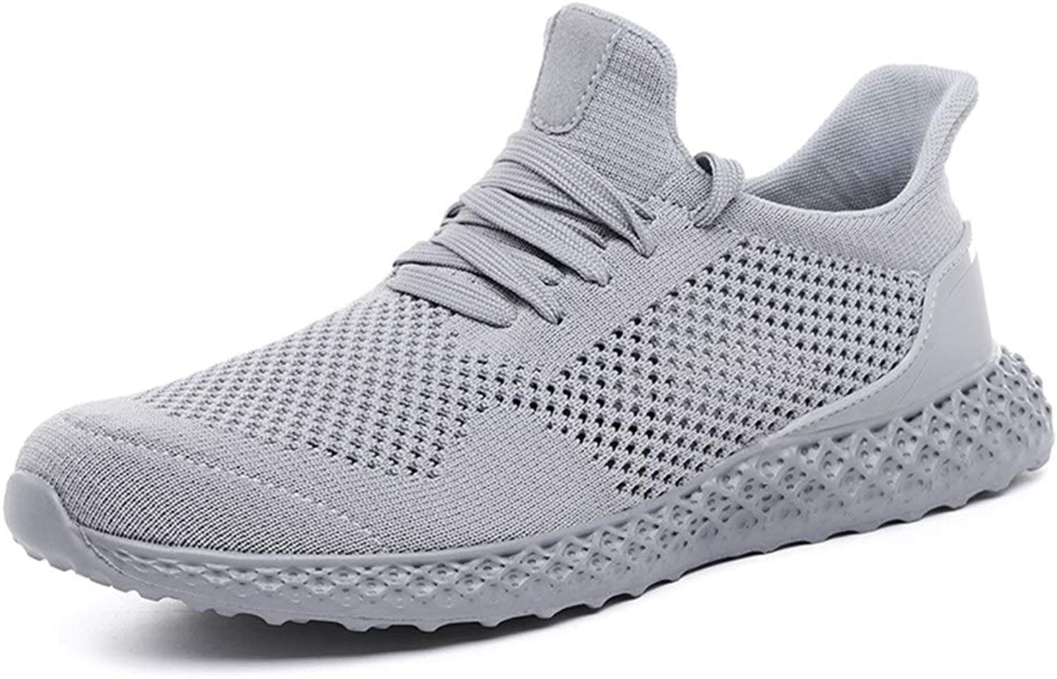 Ino Athletic shoes for Men Breathable Mesh Speed Outdoor Activities Running Sneakers Knit Lightweight Easy Soft Anti-Slip Flat Lace Up Round Toe
