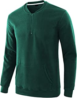 VANVENE Mens Casual 1/4 Zip Sweater Long Sleeve Sweatshirt