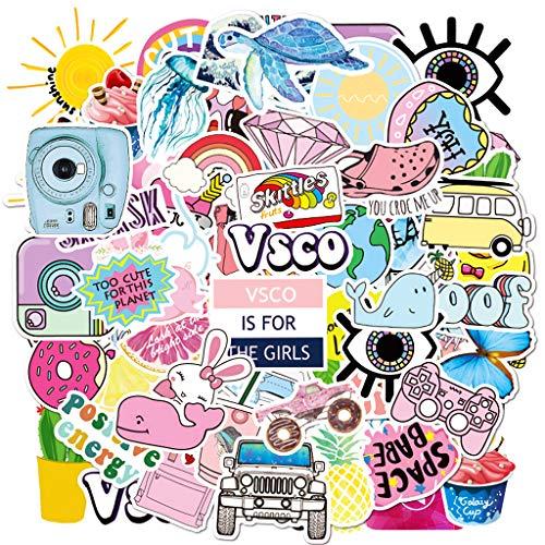 Ouceanwin 100 Stück Wasserdicht Vinyls Stickers Graffiti Decals Kinder Set, VSCO Sticker Mädchen Selbstklebend Deko Aufkleber Cartoon für Auto Motorrad Fahrrad Skateboard Snowboard Gepäck Laptop