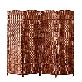 QIANDA Paravent Interieur Separation Chambre, Pliant Intimité Écran Poids Léger Panneau Cloison Séparateur De Mur avec…