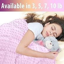 MAXTID Kids Weighted Blanket 7lbs for Girls 41''×60'' Pink Children Heavy Blanket for Sleeping