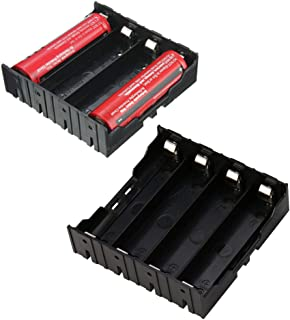 DIY Storage Battery Holder Box Case 4 x 18650 Rechargeable Battery Plastic Installation