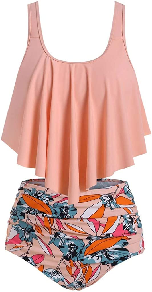 Wulofs Bikini 5 ☆ popular for Women High Popular standard Control Two Swimsuits Waisted Tummy