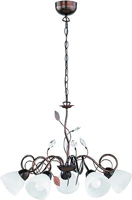 Trio Leuchten TRADITIO E14, 40 W, Rostfarben Antik, 70 x 70 x 150 cm