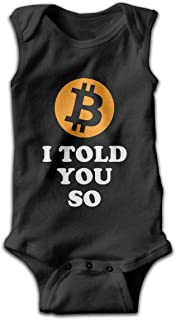 I Told You So Bitcoin Owner HODL Toddler Baby Boy Girls Sleeveless Romper Coverall Bodysuit Pajamas