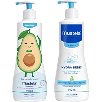 Mustela Pack Rutina Baño - Hidratación Edición Limitada Piel Normal, color, 2 count, pack of/paquete de