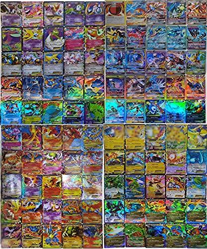 SunAurora 100 Pezzi Carte(78 Carte EX + 21 Carte GX +1 Carta Energia),Carta Iniziale, Flash Carte per Bambini